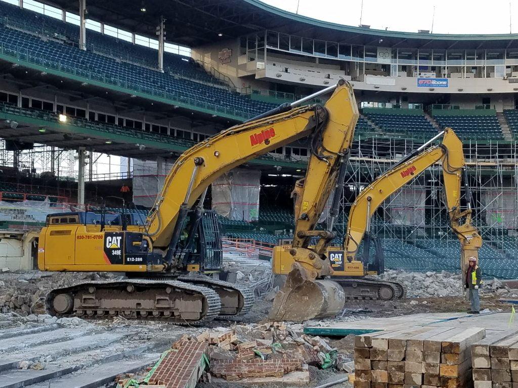 Wrigley field Chicago demolition