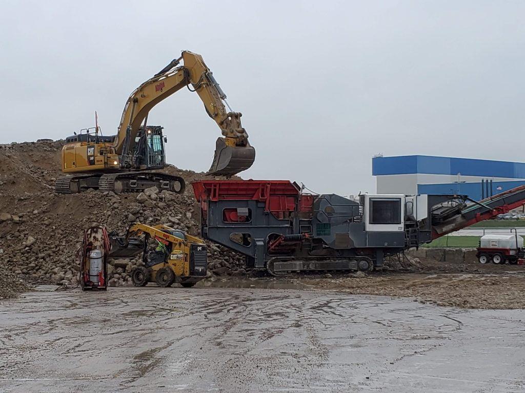 onsite concrete crushing