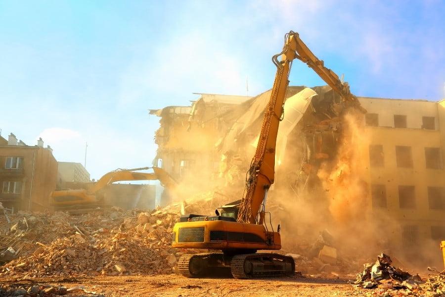 dust control during demolition